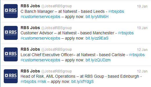 RBS Recruitment Twitter
