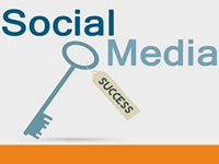 The key to social media success image.