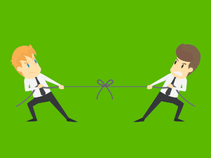 Recruiters in a tug of war