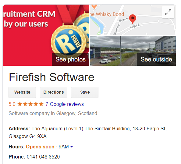 Firefish GMB screenshot