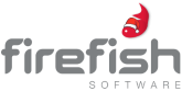 Firefish Xmas Logo Red Grey Transparent