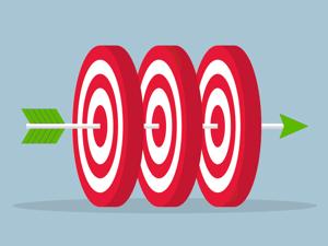 Arrow piercing three targets