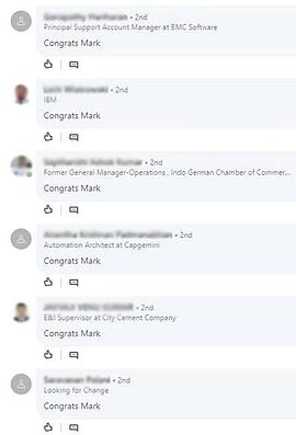 LinkedIn automated comments