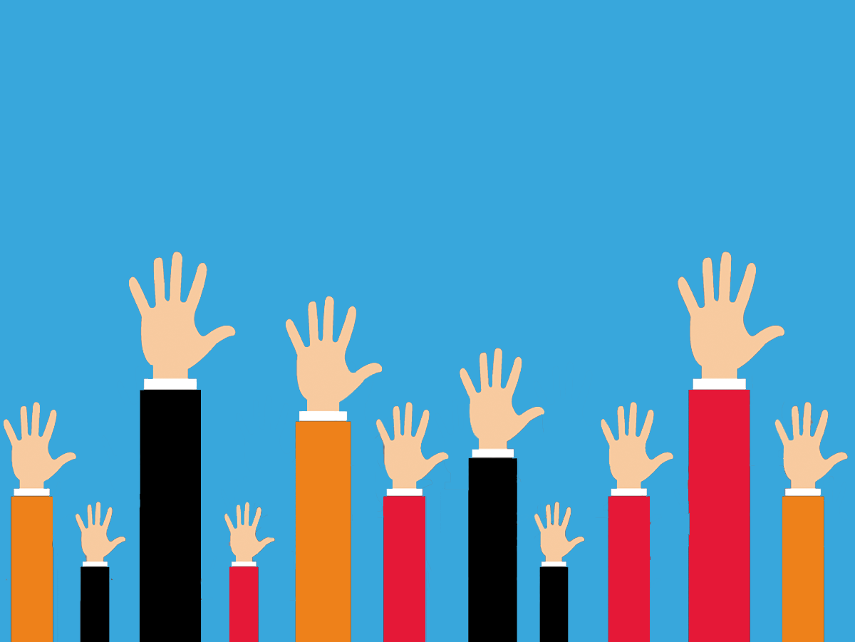 get more recruitment applications hands in the air