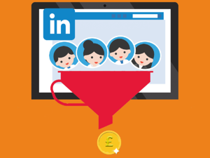 linkedin profile going into a funnel and money coming out the funnel