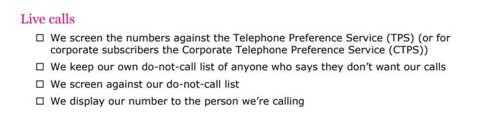 live call list