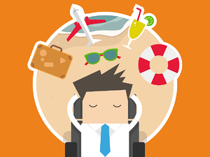 recruiter thinking about holiday and looking  (summer sales hacks)