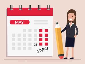 woman marking GDPR calendar